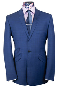 The Harrington Cobalt Blue Prince of Wales Check Suit