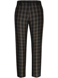 Charcoal Trouser with Beige Overcheck