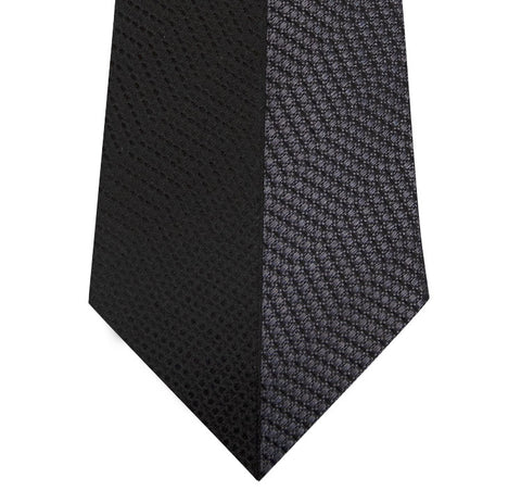 Black and Grey Vertical Stripe Silk Tie