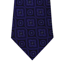 Black Silk Tie with Purple Pattern