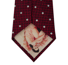 Red and White Polka Dot Silk Tie Back