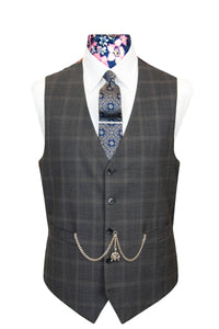 The Caldwell Elephant Grey Windowpane Check