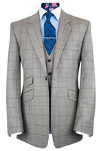 The Alexander Light Grey Suit with Black Overcheck