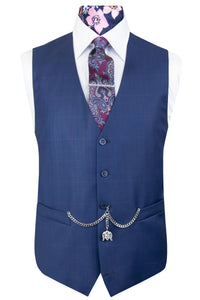 The Denver Suit with Lilac Overcheck Waistcoat Front