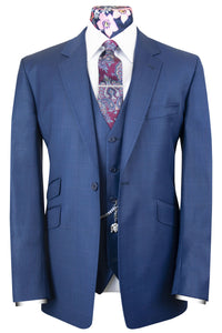 The Denver Suit with Lilac Overcheck