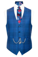 The Caldwell Cobalt Blue with Cerulean Windowpane Check