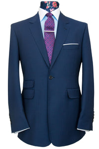 William Hunt Savile Row two piece notch lapel Federal Blue Suit