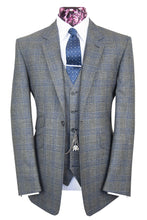 The Hammond Grey with Navy Blue Check Suit