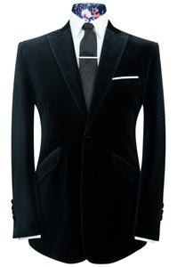 The Ashmore Black Velvet Two Piece Peak Lapel Suit