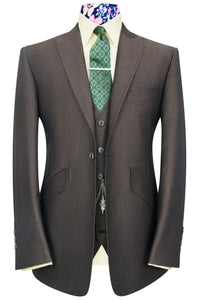William Hunt The Ashmore Olive Brown Shot Suit