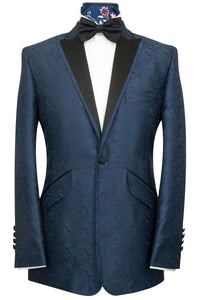The Ackerman Classic Dinner Jacket in Navy Paisley Pattern
