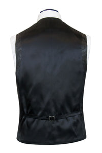 The Berkley Classic Black Dinner Suit With Floral Brocade Highlights