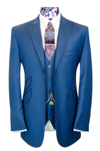 The Atherton Lapis Blue Double Plain Suit