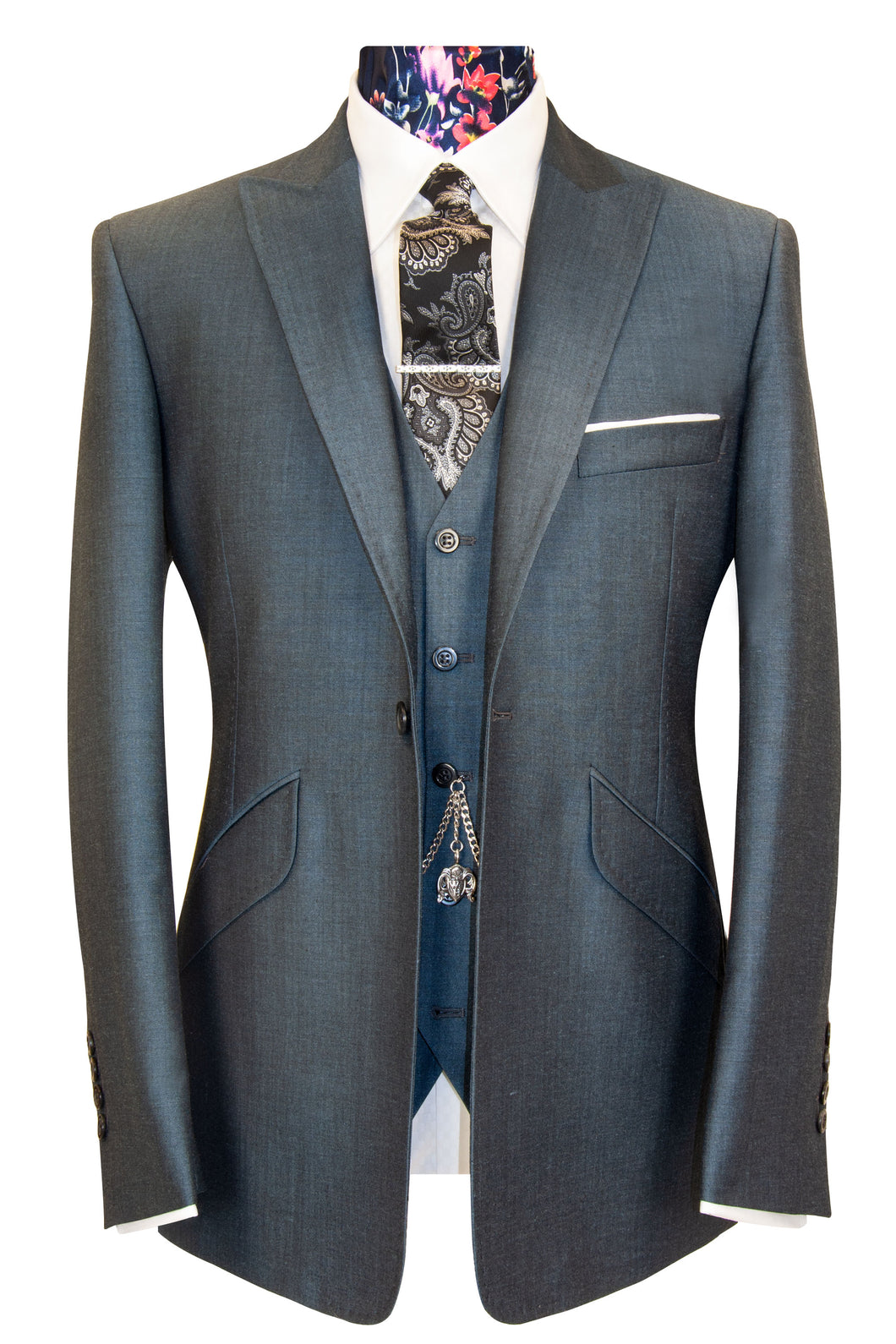 The Alvarez Slate Grey Shot Suit