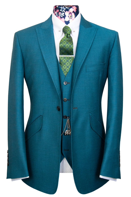 The Alvarez Peacock Blue Shot Suit
