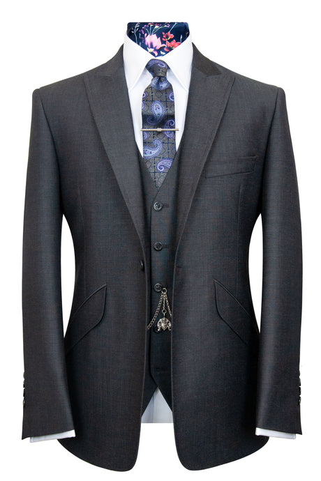 The Alvarez Charcoal Shot Suit