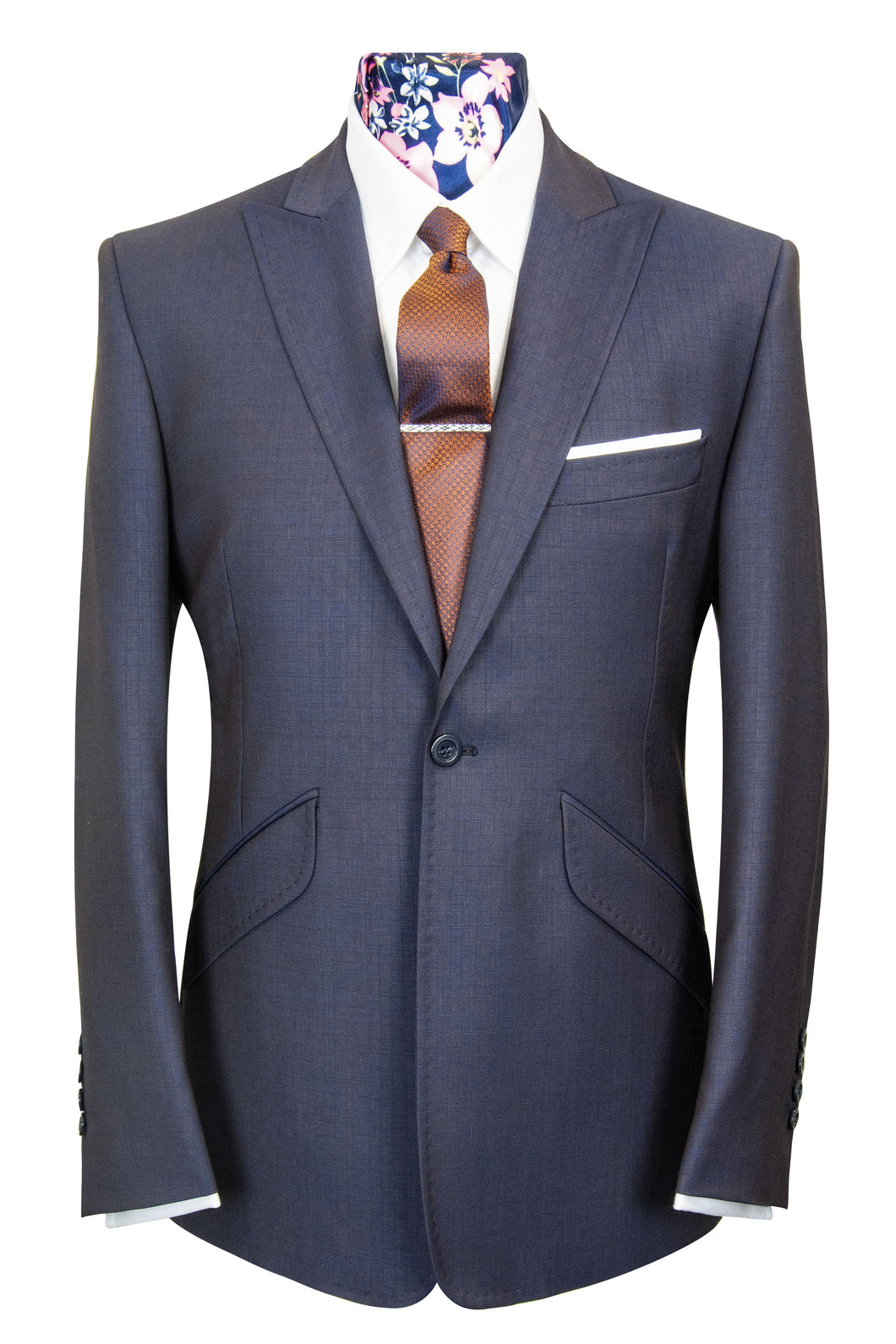 The Ashmore Navy Blue Box Check Suit