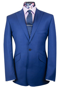 The Hastings Zaffre Blue Birdseye Suit