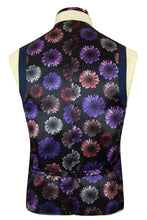 The Holland Admiral Blue Suit with Birdseye Pattern Waistcoat lining