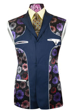 The Holland Admiral Blue Suit with Birdseye Pattern Lining