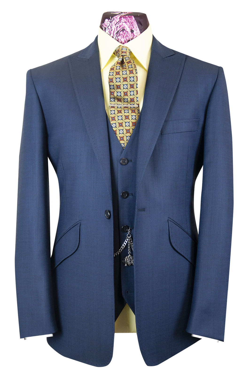 The Holland Admiral Blue Suit with Birdseye Pattern