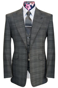The Cringleford Grey with Black Overcheck Suit