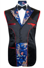The Blakeley Cobalt Blue Oriental Print Dinner Jacket Lining
