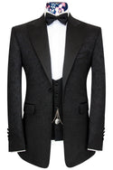 The Morgan Black Regency Jacquard Dinner Suit