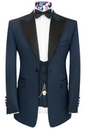 The Morgan Blue Over Navy Jacquard Dinner Suit
