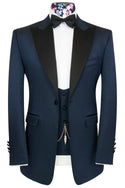 The Morgan Cobalt Blue Jacquard Dinner Suit
