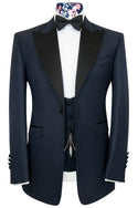 The Morgan Midnight Blue Rib Dinner Suit