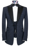 The Morgan Cobalt Over Midnight Blue Jacquard Dinner Suit