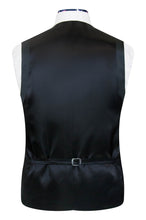 William Hunt Savile Row Petrol blue waistcoat with classic black back lining