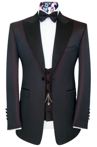 The Morgan Deep Red Dinner Suit