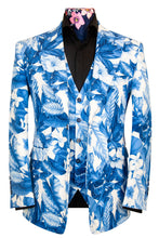 The Natsu Cerulean Blue and White Floral Print Suit