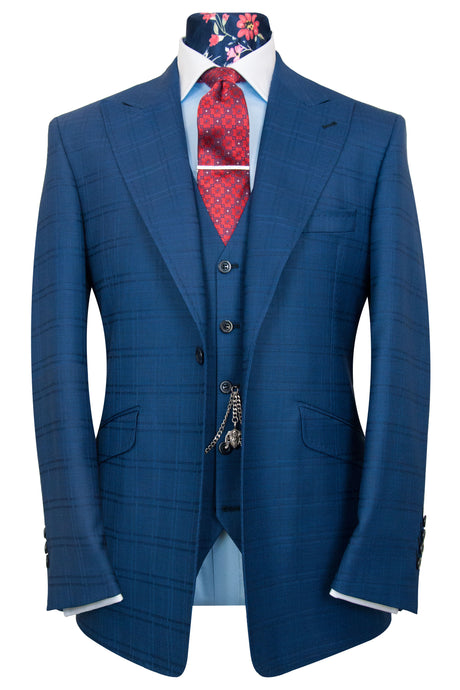The Morgan Azure Blue Venetian Suit