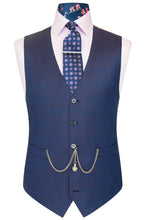 William Hunt Savile Row Purple shadow check waistcoat featuring a back black base lining with multi-coloured floral pattern