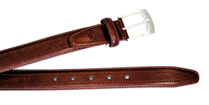 Brown Croc Back Classic WH Belt Back