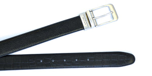 Black Reversible WH Belt Both side
