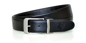 Black Reversible WH Belt Black Side