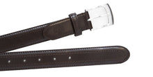 Dark Brown Classic WH Belt Flat