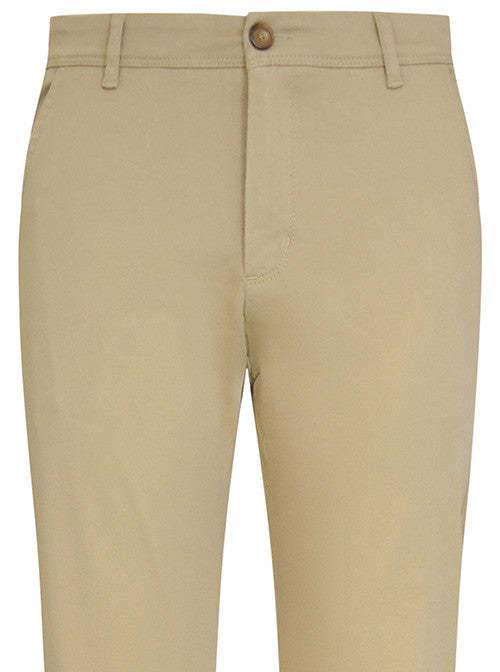 Sand Stretch Cotton Chino Trouser