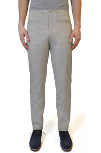 Beige Slim Fit Stretch Chino - William Hunt Savile Row  - 1