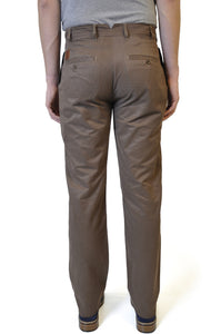 Brown Cotton Chino - William Hunt Savile Row  - 2