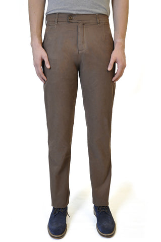 Brown Cotton Chino - William Hunt Savile Row  - 1