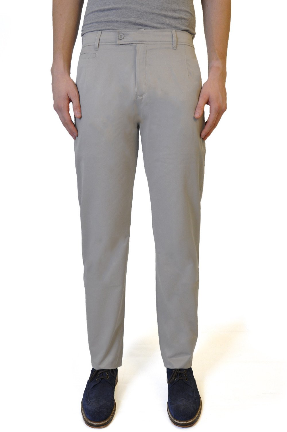 Beige Cotton Chino - William Hunt Savile Row  - 1
