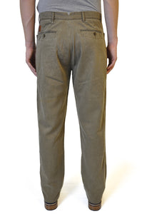 Khaki Brown Straight Cotton Chino - William Hunt Savile Row  - 2