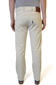 Pale Cream Cotton Chino - William Hunt Savile Row  - 2
