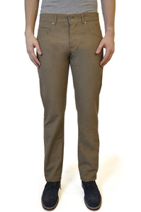 Sand Brown Cotton Chino - William Hunt Savile Row  - 1