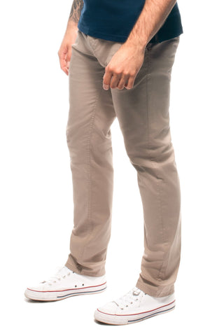 Beige Stretch Cotton Chino Trouser Chinos